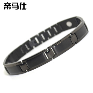 Male health care hand ring anti fatigue bracelet male black titanium bracelet personalized birthday gift(China (Mainland))