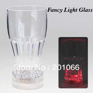 Free shipping wholesale Crystal Mutiiple-color Flashing Novelty Mug for Juice Beer Brandy Whiskey with retail pacakge(China (Mainland))