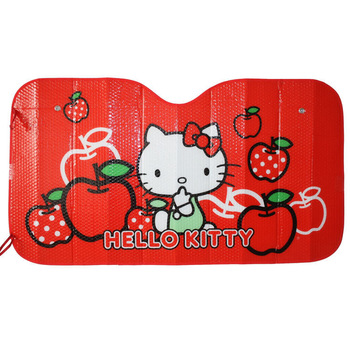 Hello Kitty Thickened Car Front Rear Sun Windshield Sunshade Cover Sun block Red