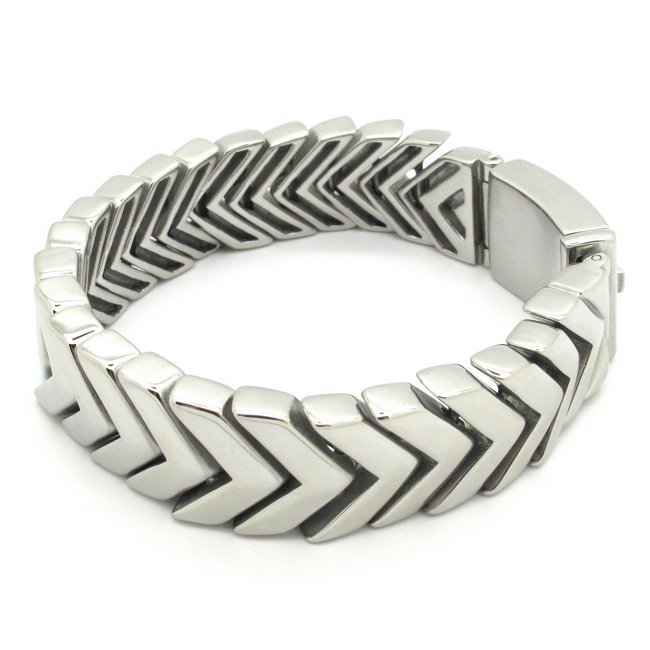 COOL! Silver Tone Arrows Snake Chain Bracelet Solid Stainless Steel Bangle Biker Punk Men's Jewellery Gift Wholesale Retail(China (Mainland))