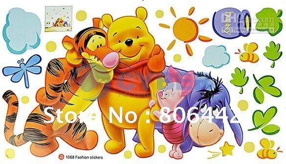 Cheap Cartoon Animal PVC Wall Sticker ,Wall Decal ,Wallpaper, Room Sticker, House Sticker Free Shipp(China (Mainland))