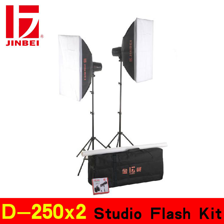 Lighting kits D-250x2 photography light kit Studio Flash Kit(China (Mainland))