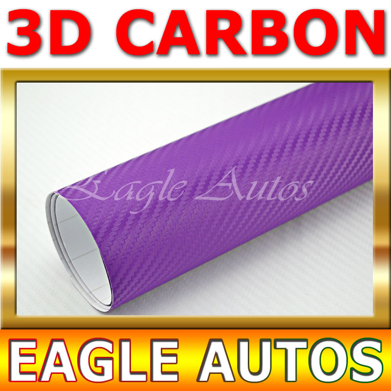 New Violet 3D carbon fiber vinyl decal water proof smart styling / Size:98Feet x 4.9 Feet / DROP SHIPPING(China (Mainland))