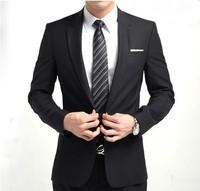 Free shipping 2014 men's slim waist suitclothing men white suit gray wedding tuxedo groomsmen suit skinny suits for men