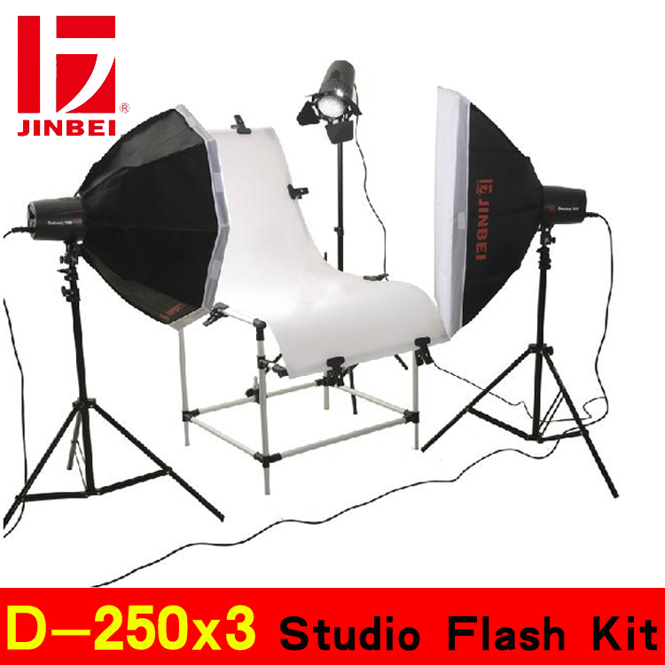 Studio Strobe flash D-250x3 Studio Flash Kit Light ing kit(China (Mainland))
