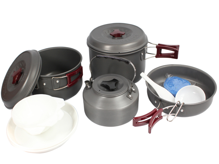 Bl200-c8 combination camping cookware 1.1l teaports(China (Mainland))