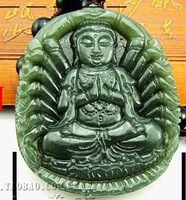 Men with large jade goddess of mercy of guanyin jade pendant/medallion jade guanyin natural A cargo