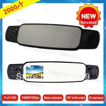 2013 New arrivals 2000A with G-sensor 1080P Full HD 120 Degree Wide Angle Camera the Registrar Rear View Car DVR Night Vision