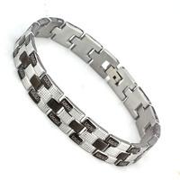 wholesale free shipping gift Bracelet & bangle 210mm 304 Stainless Steel Bracelet Men Jewelry #BA100172