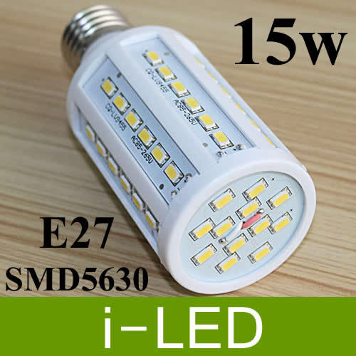 LED Corn Light Lamp Bulb E27 15W 60 LED SMD 5730 Warm white Natural White 4000K-4500K AC85V-265V Global Adaptive voltage(China (Mainland))