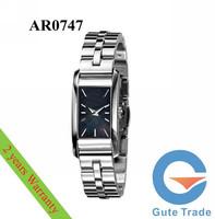 Luxury AR0747 Womeen's Watch Hardlex Glass Square Quartz Watches Wristwatch Free Ship With Original box