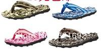 Warrior Camouflage massage flip flops casual shoes fish bone flip slip-resistant wear-resistant beach slippers,free shipping