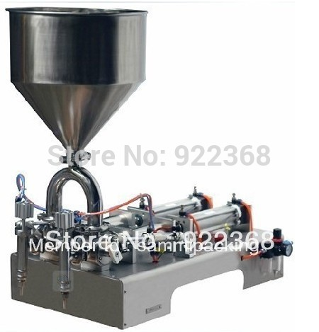 Free shipping double head cream filling machine for cream,shampoo ect (10-100ml)(China (Mainland))