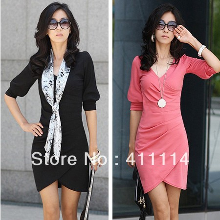 2013 new hot fashion women clothing cotton cute casual high street sheath active sexy dress Fashion Slim fold style long section(China (Mainland))