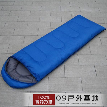 Spring and autumn envelope sleeping bag adult outdoor sleeping bag thermal thickening hooded sleeping bag ultra-light sleeping