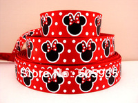david ribbon 7/8 '' mickey red grosgrain ribbon hairbows printed ribbon freeshipping