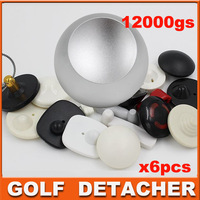 DHL freehshipping Golf Detacher Tag Remover Hard Magnetic Detacher EAS Tag Detacher 12,000gs detacher golf 6pcs/lot