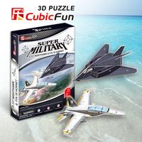 F-117 nighthawk & F/A-18 hornet cubic fun P629H 13+27pcs 3D Puzzle paper model DIY kids  Educational toys free shipping
