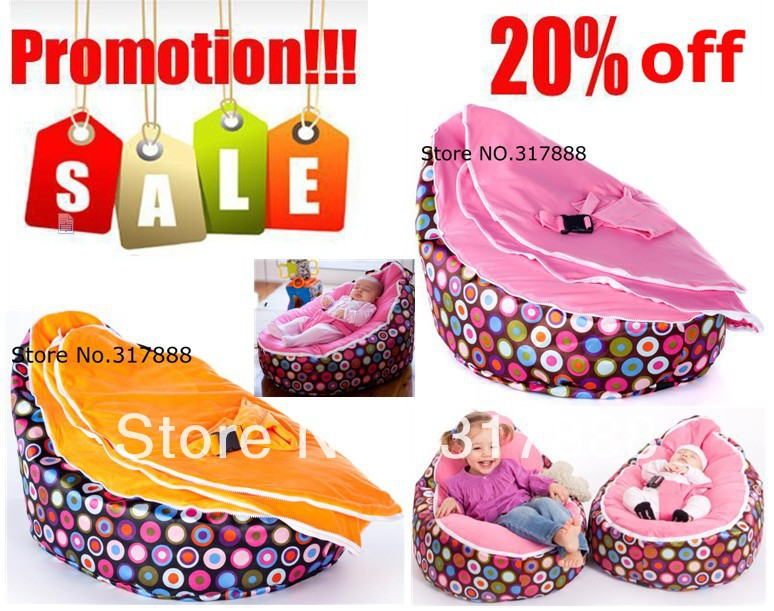 DISCOUNT !!!! Promotion!! TWO upper covers convertible baby bean bag chair, doomoo beanbag seat, kid sleep beds,infant strollers(China (Mainland))