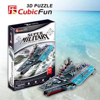 Kiev Aircraft Carrier cubic fun P602H 103pcs 3D Puzzle paper model DIY kids  Educational toys free shipping