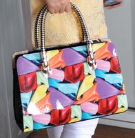 Free shipping 2013 elegant and formal shoulder bag All-match women's handbag Vintage print fasihon bags Fashion lady's handbags