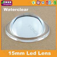 Free shipping! 15mm LED brake light lens High Power Lens Reflector Collimator 10-90 Degree for DIY Flashlight Factory Wholesale