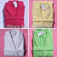 Double thickening 100% cotton towel bathrobe towel robe bathrobe multicolor