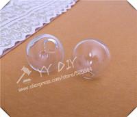 Free shipping! 50pcs/lot 20mm(6mm opening) glass bubble/ DIY Glass globe vial pendant/DIY decorations / glass vial pendant