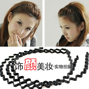 15g hair accessory hairpin star general black wave spring hair bands(China (Mainland))