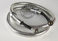 copper cap double buckles shower nozzle plumbing hose, explosion-proof shower tube,1.5m,HR052