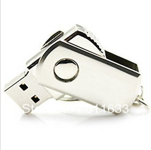 Free shipping ! 64G small stainless steel metal rotary system usb flash(5pcs)(China (Mainland))