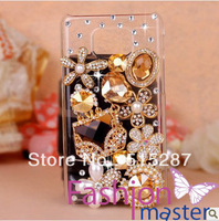 Free shipping,New arrival fashion moblie phone Cover Case for samsung galaxy SII S2 l9100,Noble and elegant Golden Jewel bag