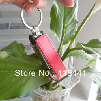 FREE shipping (20pcss/lot)LEATHER USB 4GB customized products with logo,LEATHER USB Flash Disk Memory Pen drives 4GB