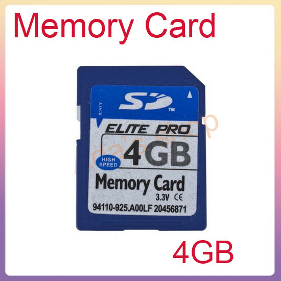 High Speed 4GB SD Secure Digital Memory Card 4G 4 GB+free shipping(China (Mainland))