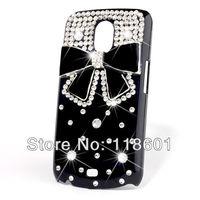 New Fashion Black Bow Bowknot Bling Diamond Hard Back Case For Samsung Galaxy Nexus I9250