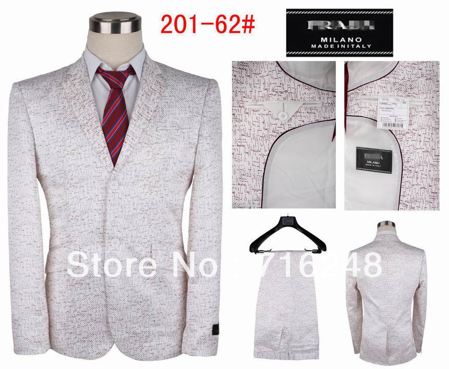news 2013Goodhigh quality men's fashion linen business suit handsome wedding suit(coat+pants)sale(China (Mainland))