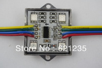 20pcs/string IP66 led pixel module 4pcs SMD RGB 5050,1pcs WS2801,256 gray level,DC12V,0.96W