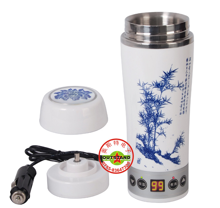 Car electric heating cup stainless steel liner cup electric kettle heated cup vacuum cup 100(China (Mainland))