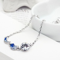 Neoglory accessories fashion bracelet auden rhinestone blue zircon alloy bracelet female