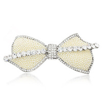 Neoglory accessories 2013 pearl rhinestone hairpin elastic clip folder female platier