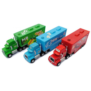 100% original ! 2013 hot ! freeshipping !! Pixar Car 2 alloy and plastic 1 set =3pcs Mack truck toys