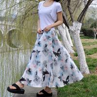 National 2013 trend linen skirt long skirt bust skirt women's expansion skirt ink