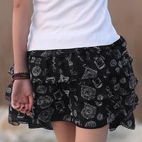 Spring women's pleated chiffon slim package hip skirt short skirt bust skirt summer