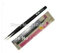 Anti-Static Stainless Straight Extra Fine Point Slim Tweezer Tools BLACK