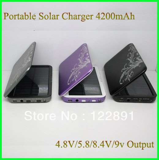 Hot! 4200mah Solar Charger Mobile Phone Charger power bank battery backup Portable Solar Charger For iphone Free Shipping(China (Mainland))
