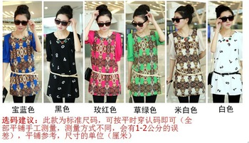 2013 summer fashion chiffon short-sleeved shirt