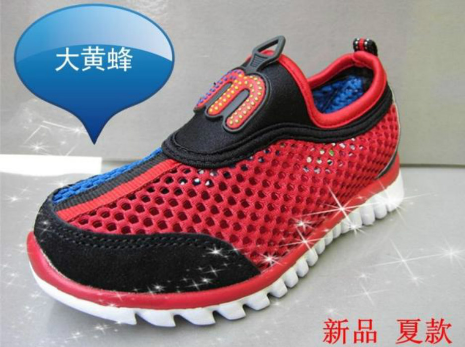Bumblebee children shoes male children summer breathable mesh sport shoes xx1167105 short in size(China (Mainland))
