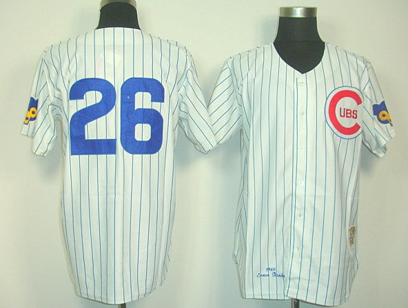 cubs baseball jersey #26 Billy williams White discount,free shipping(China (Mainland))