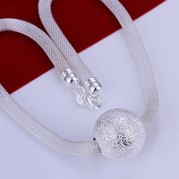 S-N182 wholesale,925 silver ball pendant necklace,trendy chain,fashion jewelry, Nickle free,antiallergic,factory price