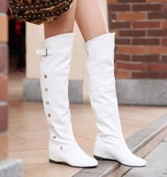 2013 single boots female boots high-leg boots spring and autumn white 7 elevator